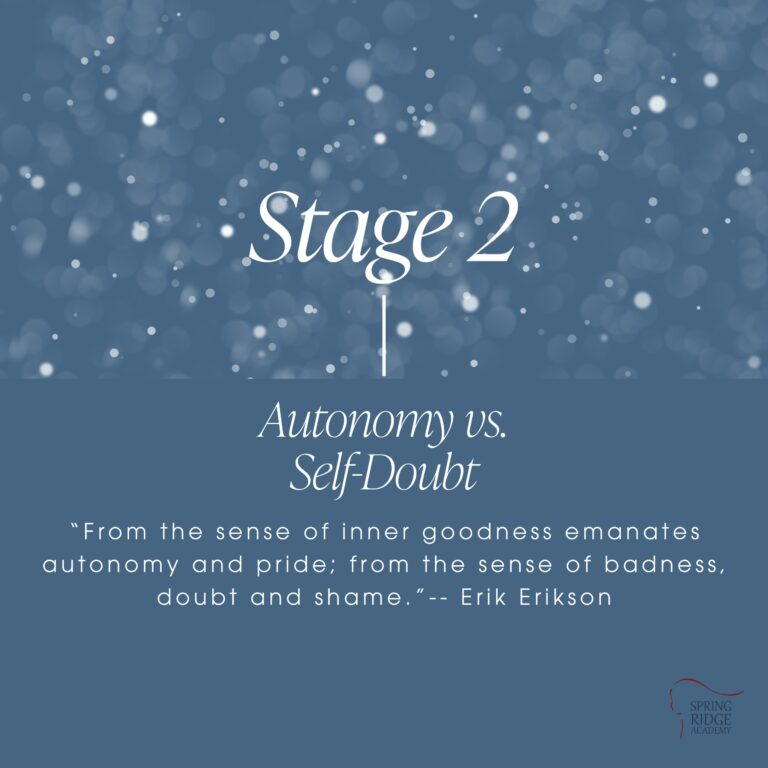 """Stage 2: Autonomy vs. Self-Doubt """"From the sense of inner goodness emanates autonomy and pride; from the sense of badness, doubt and shame.""""-- Erik Erikson"""
