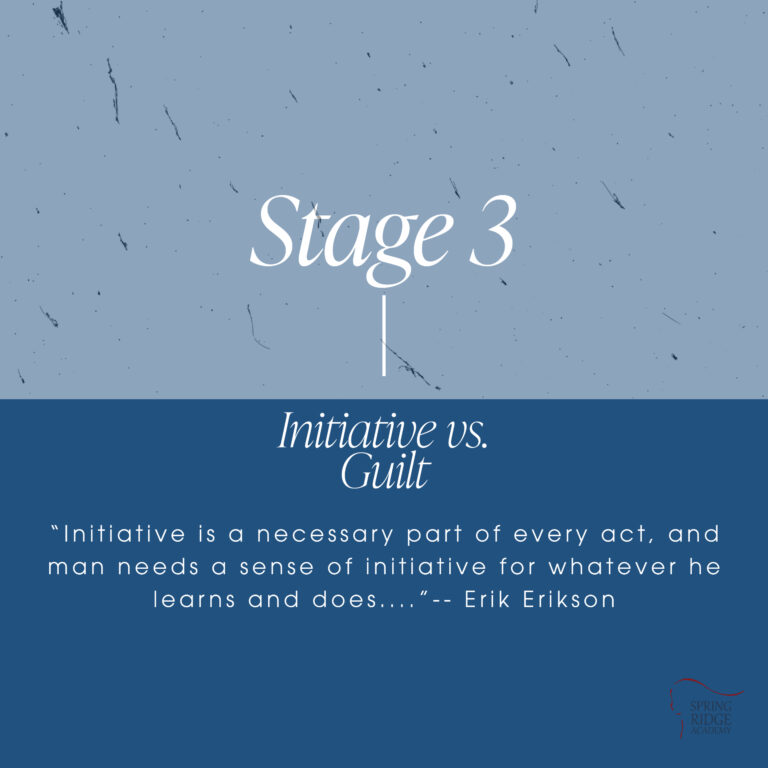 """Erikson's Stage 3: Initiative vs. Guilt """"Initiative is a necessary part of every act, and man needs a sense of initiative for whatever he learns and does....""""-- Erik Erikson"""