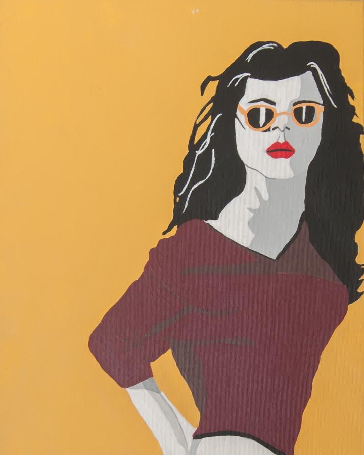 dark-haired girl wearing sunglasses